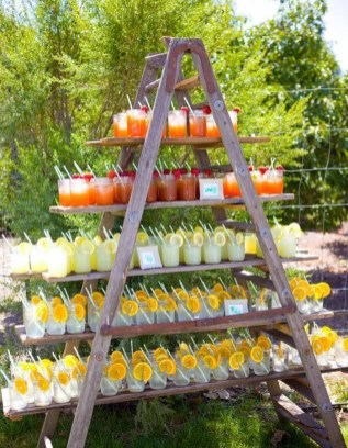 Chic Outdoor Wedding Drink Station And Bar Ideas For Winter To Try Asap35