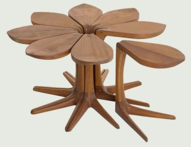 Excellent Chair And Table Design Ideas With Flower Shapes To Try Asap25