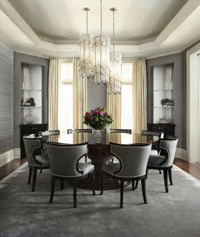Fancy Round Dining Table Design Ideas That Looks So Awesome17