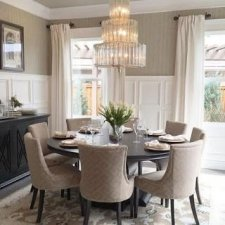 Fancy Round Dining Table Design Ideas That Looks So Awesome35