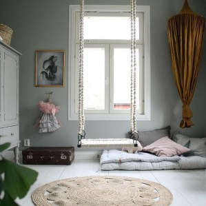 Luxury Indoor Swing Design Ideas For Kids Space To Have Right Now20