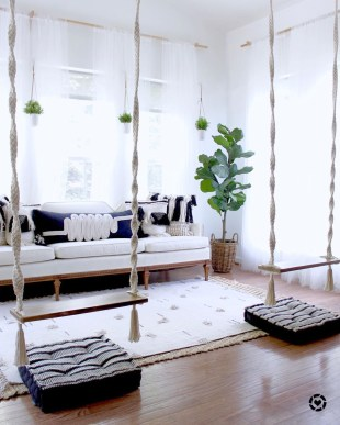 Luxury Indoor Swing Design Ideas For Kids Space To Have Right Now34