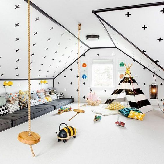 Luxury Indoor Swing Design Ideas For Kids Space To Have Right Now38