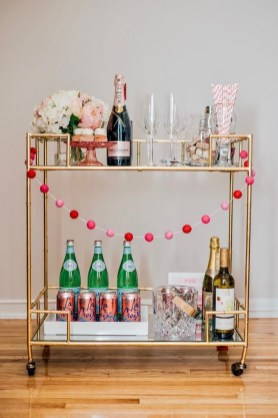 Sophisticated Bar Carts Ideas For Valentine Décor To Try Asap08