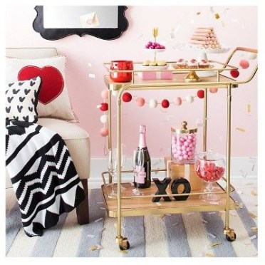 Sophisticated Bar Carts Ideas For Valentine Décor To Try Asap17