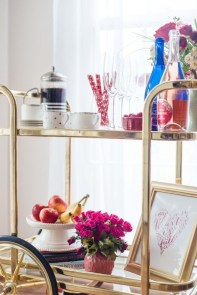 Sophisticated Bar Carts Ideas For Valentine Décor To Try Asap23