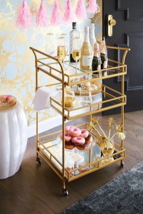 Sophisticated Bar Carts Ideas For Valentine Décor To Try Asap25