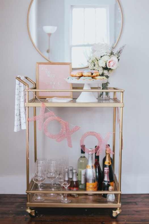 Sophisticated Bar Carts Ideas For Valentine Décor To Try Asap29