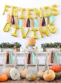 Unusual Friendsgiving Decor Ideas For Holiday Celebrating To Try12