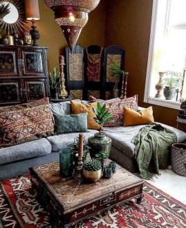 Captivating Bohemian Interior Design Ideas That Suitable For Your Apartment07