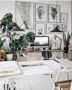 Fascinating Home Office Design Ideas With Beautiful Plants To Try Asap19