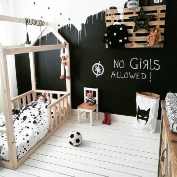 Marvelous Black And White Kids Room Design Ideas To Try This Month12