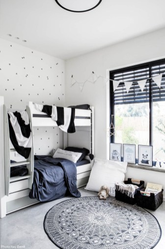 Marvelous Black And White Kids Room Design Ideas To Try This Month25