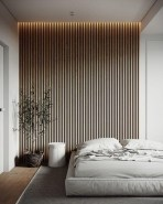 Newest Bedroom Design Ideas That Featuring With Wooden Panel Wall13
