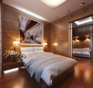 Newest Bedroom Design Ideas That Featuring With Wooden Panel Wall21