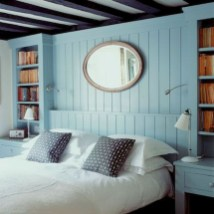Newest Bedroom Design Ideas That Featuring With Wooden Panel Wall26