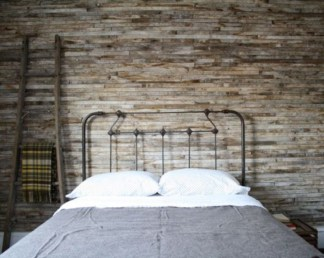 Newest Bedroom Design Ideas That Featuring With Wooden Panel Wall32
