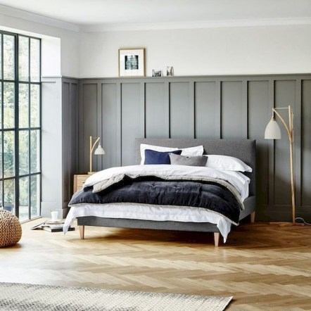 Newest Bedroom Design Ideas That Featuring With Wooden Panel Wall34