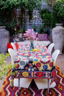 Newest Outdoor Bohemian Dining Room Design Ideas To Try Right Now22