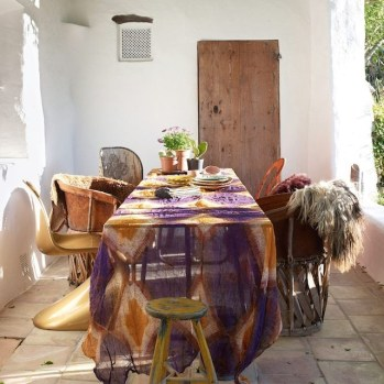 Newest Outdoor Bohemian Dining Room Design Ideas To Try Right Now25