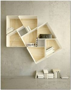 Trendy Plywood Bookshelf Design Ideas With Floating Effects To Try Asap32
