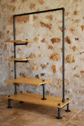 Unusual Industrial Pipe Rack Storage Design Ideas To Try Right Now02