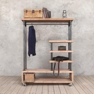 Unusual Industrial Pipe Rack Storage Design Ideas To Try Right Now16