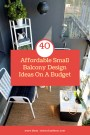 40 Affordable Small Balcony Design Ideas On A Budget