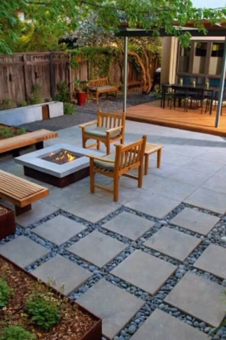 Best Patio Deck Design Ideas With Firepit To Make The Atmosphere Warmer07