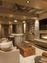 Brilliant Living Room Wood Ceiling Design Ideas That You Should Try02