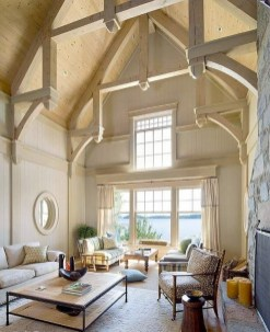 Brilliant Living Room Wood Ceiling Design Ideas That You Should Try03