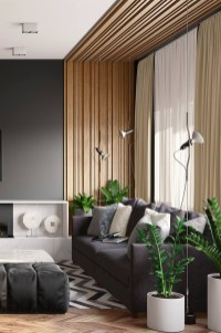 Brilliant Living Room Wood Ceiling Design Ideas That You Should Try28