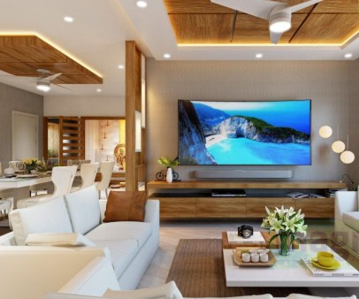 Brilliant Living Room Wood Ceiling Design Ideas That You Should Try31