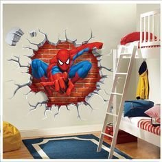 Latest Kids Bedroom Design Ideas With Spiderman Themes04