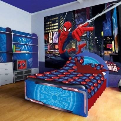 Latest Kids Bedroom Design Ideas With Spiderman Themes06