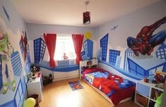 Latest Kids Bedroom Design Ideas With Spiderman Themes12