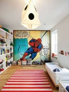 Latest Kids Bedroom Design Ideas With Spiderman Themes16