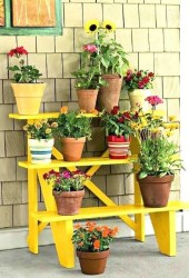Newest Flower Shelf Design Ideas That Will Amaze You02