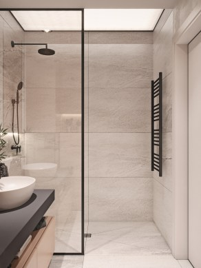 Stunning Black Bathroom Shower Design Ideas That You Need To Copy07