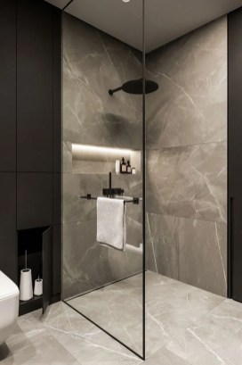 Stunning Black Bathroom Shower Design Ideas That You Need To Copy27