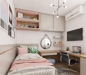 Unusual Small Bedroom Design Ideas For A Narrow Space19