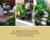 20+ Modern Tiny Backyard Landscaping Design Ideas That Looks So Amazing