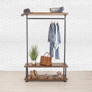 Awesome Diy Small Bedroom Design Ideas With Close Clothing Rack 11