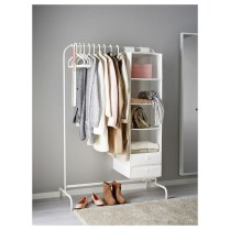 Awesome Diy Small Bedroom Design Ideas With Close Clothing Rack 16