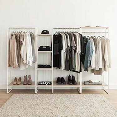 Awesome Diy Small Bedroom Design Ideas With Close Clothing Rack 21