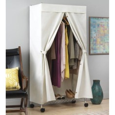 Awesome Diy Small Bedroom Design Ideas With Close Clothing Rack 26