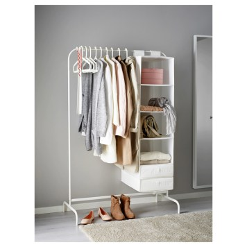 Awesome Diy Small Bedroom Design Ideas With Close Clothing Rack 37