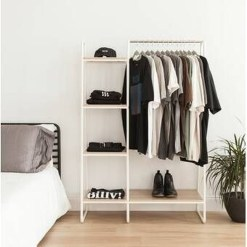 Awesome Diy Small Bedroom Design Ideas With Close Clothing Rack 43