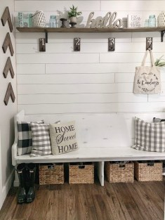 Awesome Farmhouse Mudroom Decorating Ideas To Try Asap 13