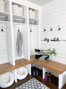 Awesome Farmhouse Mudroom Decorating Ideas To Try Asap 14